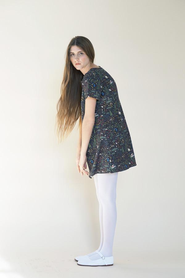 Samantha Pleet Tea Dress - Wonderland Print