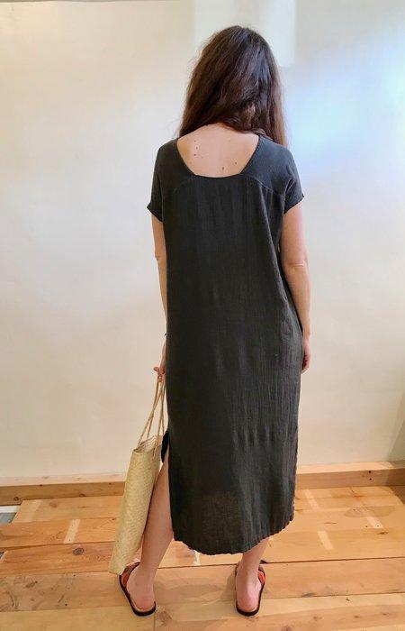 Black Crane Ester Dress - Charcoal