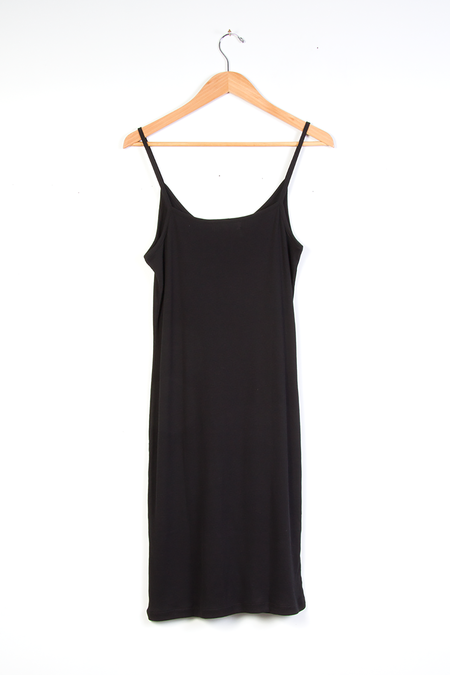 Indigenous Ribbed Slip Dress - Black