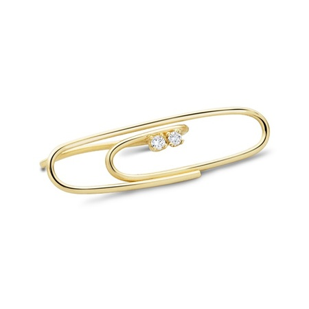 Lauren Klassen Paper Clip W/ Diamond - Gold
