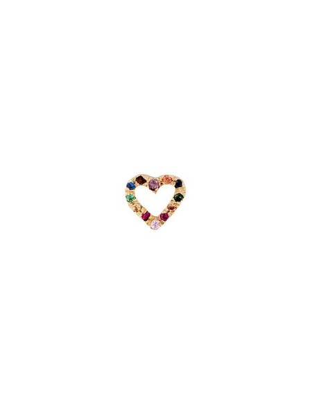 Bianca Pratt Heart Rainbow Earring - Gold