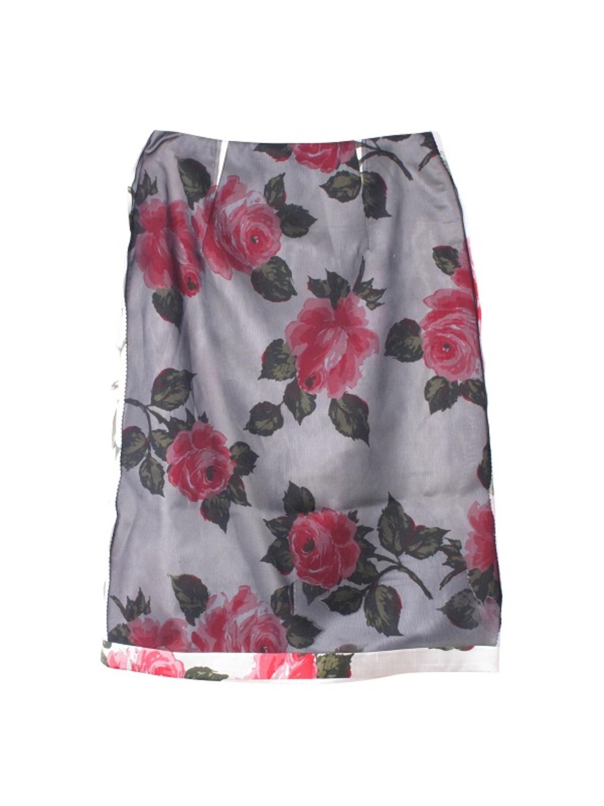 72bb271a64c1 Maison Margiela Organza Printed Flower Skirt - Black/White | Garmentory