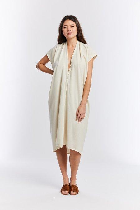 Miranda Bennett The Mother Series: Silk Noil Everyday Nursing Dress - Natural