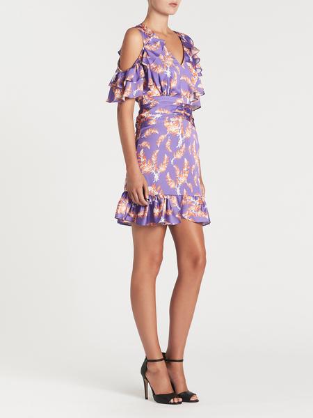THREE FLOOR Bayside High Dress - Violet Tulip/Jaffa Orange