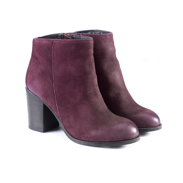 Artemisia Phoebe Burgundy Suede Ankle Boots