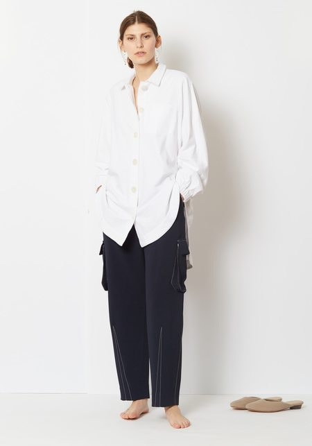 Opening Ceremony Elastic Button Up Shirt