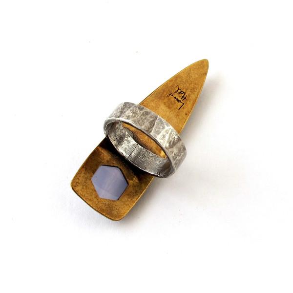 Laurel Hill Blue Agate Dart Ring