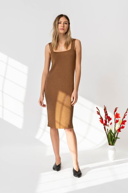 MILA ZOVKO KLARA Dress - Metallic Brown