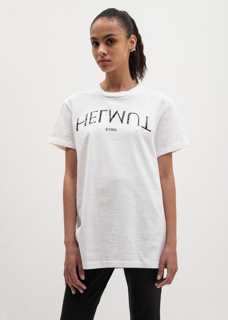 Helmut Lang Helmut Logo Hack Little Tee - Chalk White