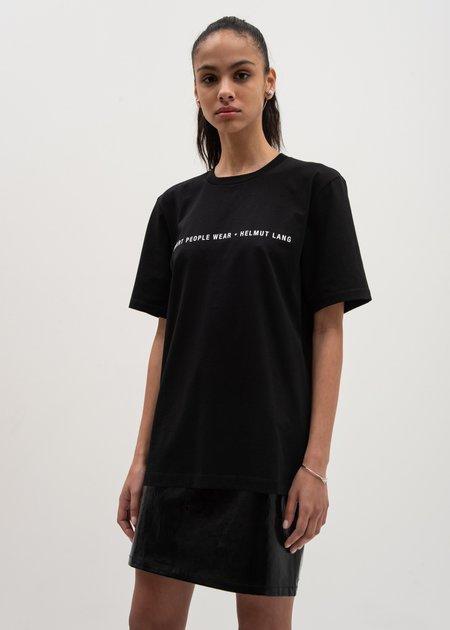 Helmut Lang Smart People T-Shirt - Black