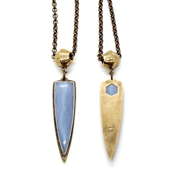 Laurel Hill Mirage Necklace // Blue Lace Agate