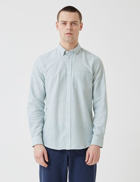 Portuguese Flannel Belavista Stripe Shirt - Green