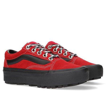 VANS 90s Retro Old Skool Lug Platform - RED/BLACK
