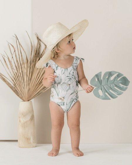 Kids Rylee + Cru Tropical Frill OnePiece - Coconut