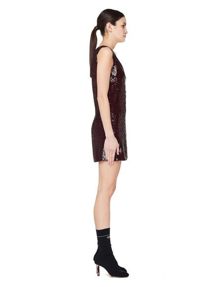 Ashish Sequined Mini Dress - Burgundy
