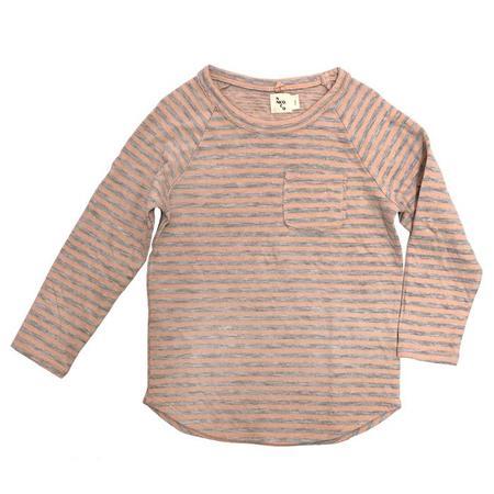 KIDS Nico Nico Perry Long Sleeved T-shirt - Petal Pink Stripes