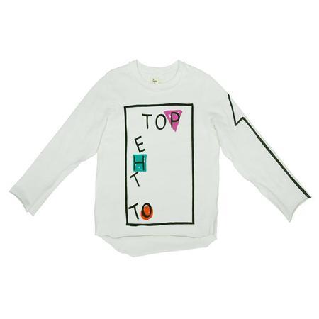 Kids Nico Nico To The Top Long Sleeved T-shirt - Ecru White