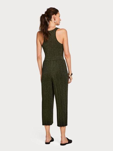 Maison Scotch Knitted Lurex Jumpsuit - DARK GREEN