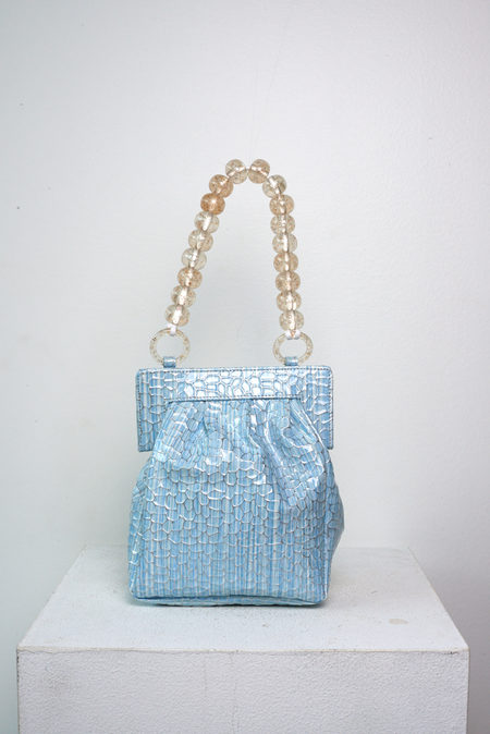 Maryam Nassir Zadeh Glow Purse in Sky Fish