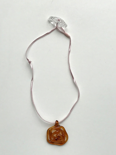 Maryam Nassir Zadeh Honeycomb Necklace in Brown