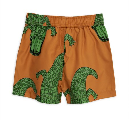 Kids Mini Rodini Crocco Swimshorts - brown