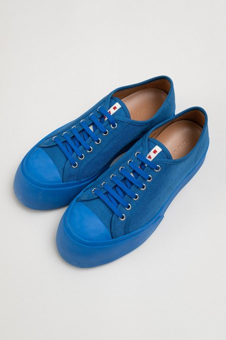 Marni Exaggerated Toe Canvas Sneaker - Blue