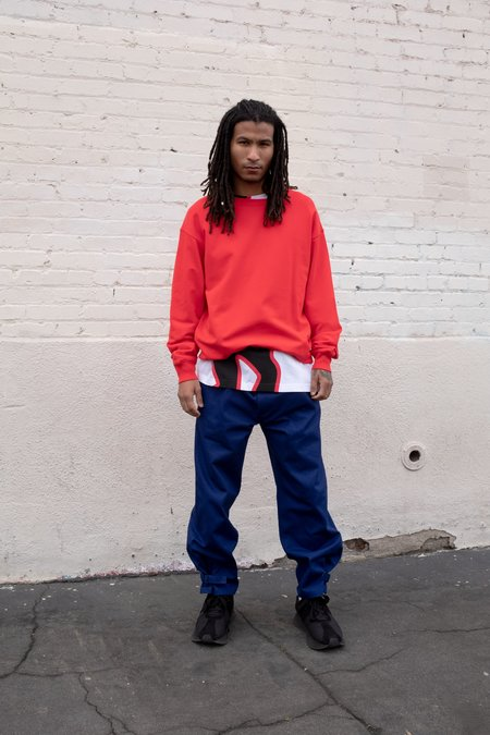 Marni DANCE BUNNY Ribbed Knit Sweatshirt - Red