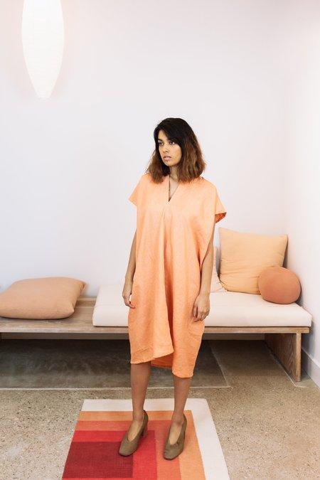 Miranda Bennett Sunrise Collection: Linen Everyday Dress - Madder Osage V.I