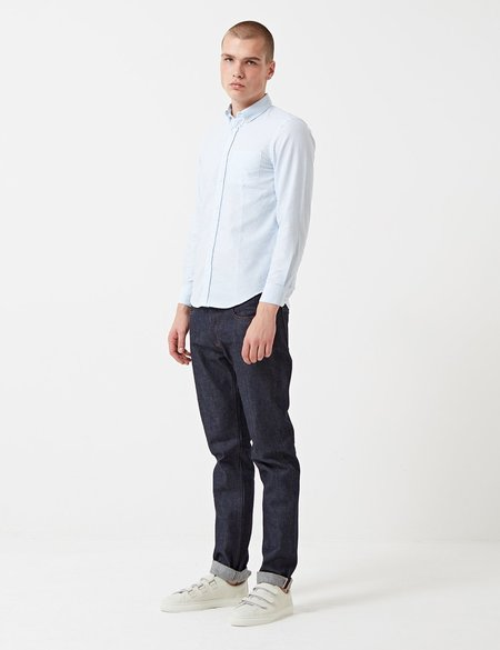 Portuguese Flannel Belavista Stripe Shirt - Blue