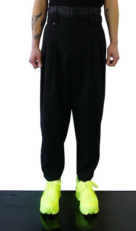 JUUN.J DENIM WAIST DOUBLE PANTS - BLACK