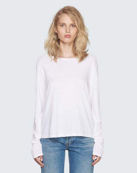 RE/DONE Lonh Sleeve Tee - white
