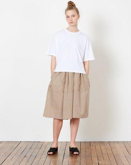 Caron Callahan Piper Skirt - Brown Pinstripe