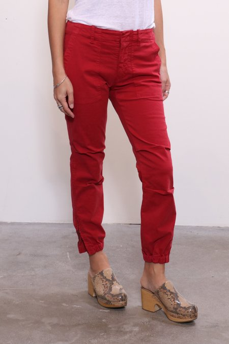Nili Lotan Cropped Military Pant - Sunkissed Red