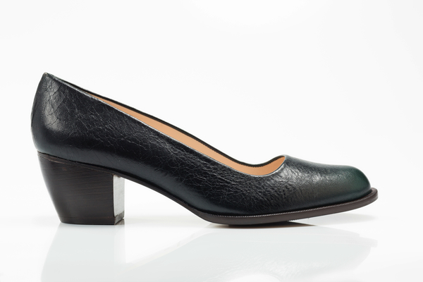 5yMedio Luisa Forest Green Pump