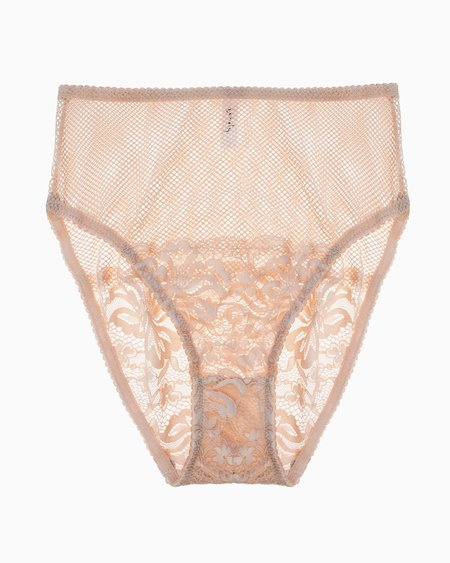 Lonely Lena High Waist Brief - Biscuit