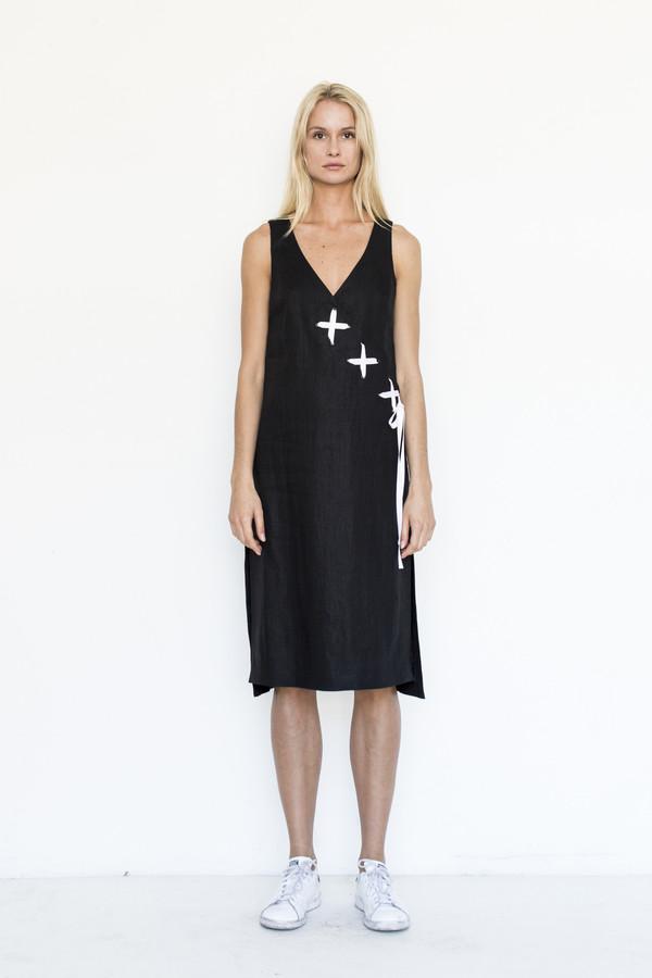 Kahle Lace Up Wrap Dress