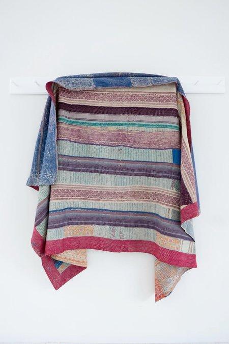Karu Vintage Kantha Quilt - Multicolor Patchwork