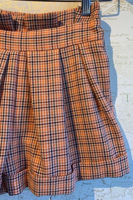 Icons Paperbag Shag Shorts - Plaid