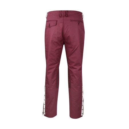 JohnUNDERCOVER Zip Cuff Twill Trousers - Bordeaux