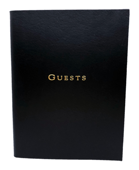 Graphic Image, Inc Leather GUEST BOOK - Black