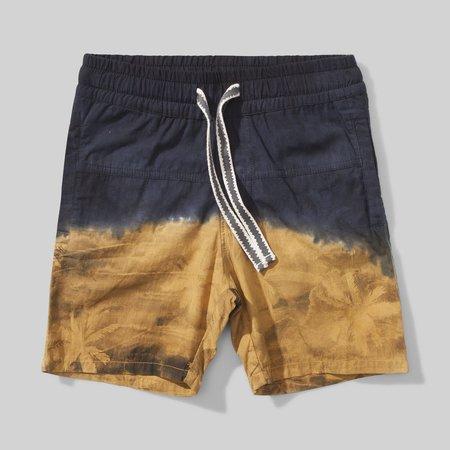Munster Kids Island Split Cotton Short - Mustard