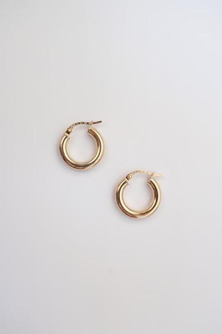 Above Average Studio Solid Hoops - Gold