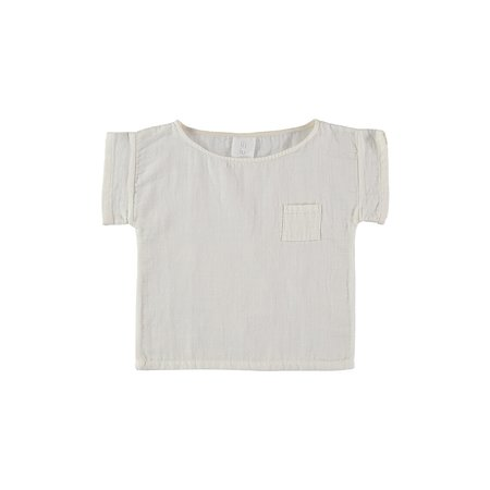 KIDS Unisex Liilu Pocket T-Shirt - White