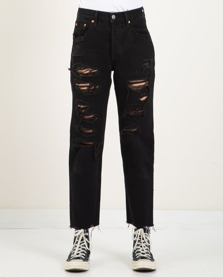 Levi's 501 CROPPED - BLACK MARK