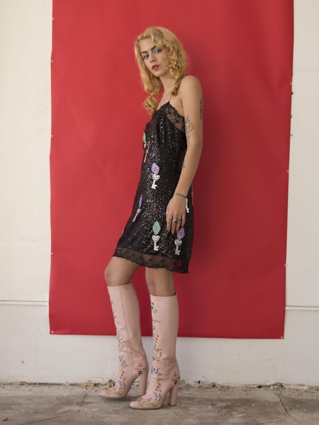 Clio Peppiatt Motel Dress - black