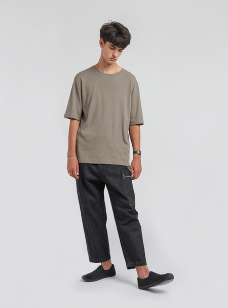 I AND ME Selvedge Drill Pants - Washed Black