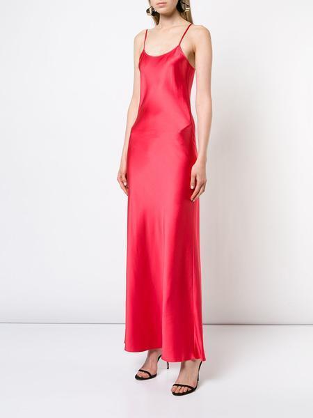 VOZ Apparel Slip Dress - Fire Coral