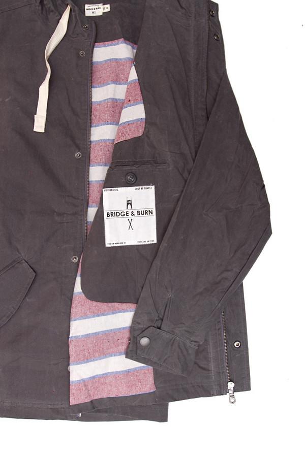 Men's Bridge & Burn Crescent Waxed Cotton Coat