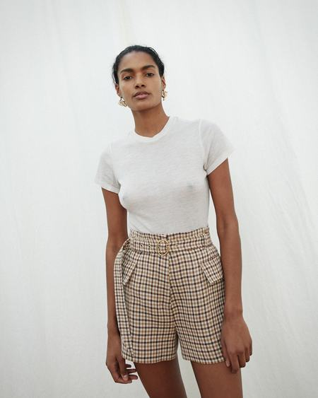 Nanushka LUCAS Belted shorts with western pocket - Check