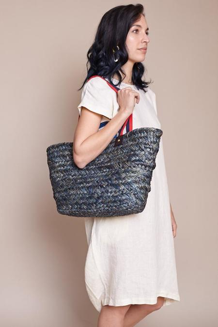 Clare V. Woven Le Big Sac - Midnight